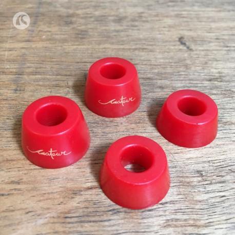 Cauchos Amateur Rojos dureza blanda (4 unidades)