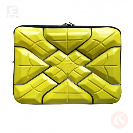 "Forro G-form para Laptop 13"" Amarillo"
