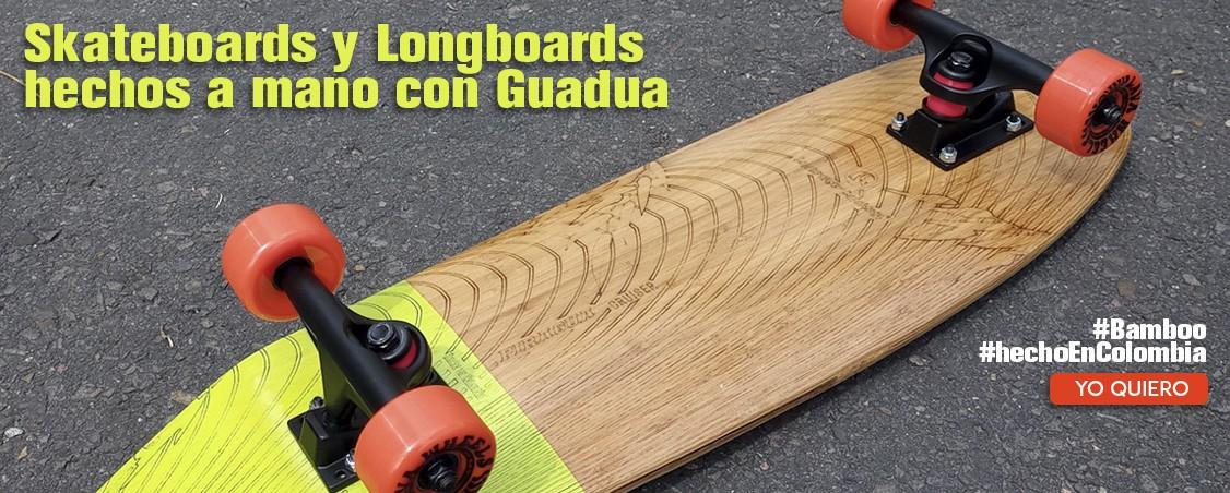 Longboard Colombia Hecho con Guadua